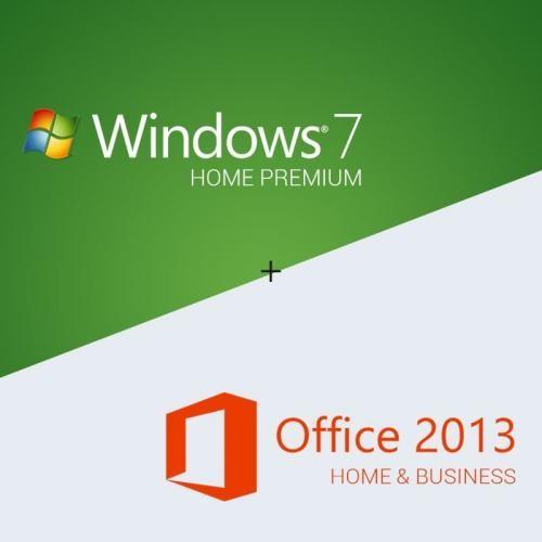 Windows 7 Home Premium + Office 2013 Home & Business Download + Lizenzschlüssel